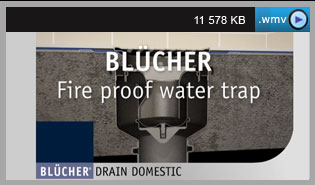 Fire proof water trap